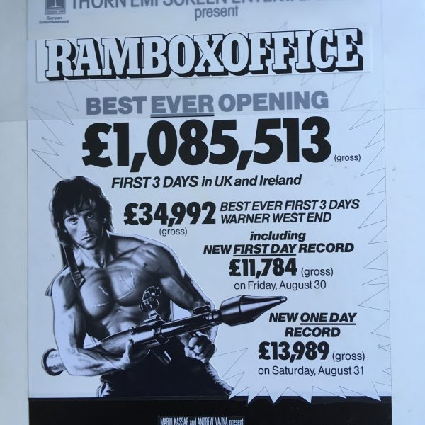 RAMBO FIRST BLOOD PART II The Actual Original Artwork for the Film
