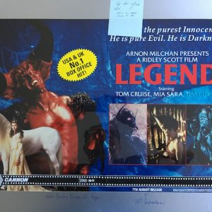 Legend The Original Master Artwork for the Film starring Tom Cruise
