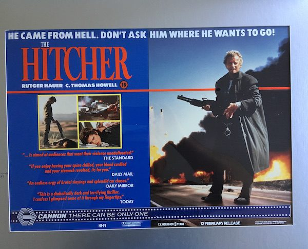 Rutger Hauer The Hitcher The Original Rare Production Artwork