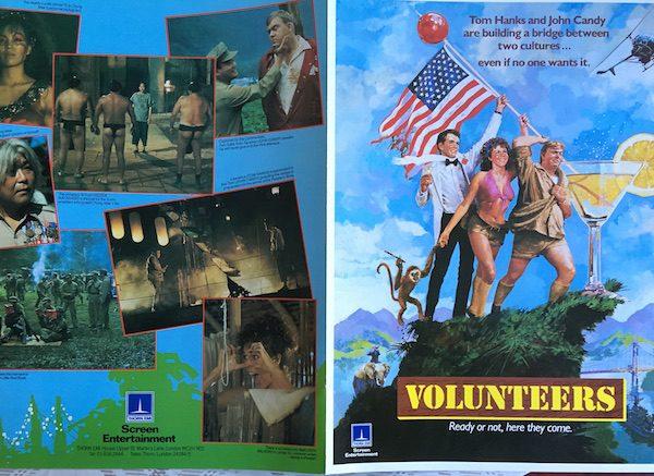 Volunteers, Tom hanks John Candy Original Promo Art for the Film