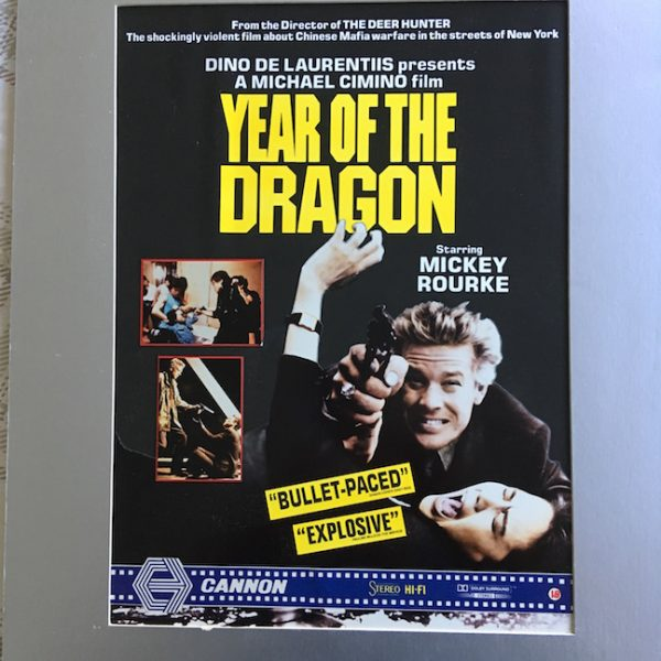 Mickey Rourke Year of The Dragon The Actual Original Artwork for the Film