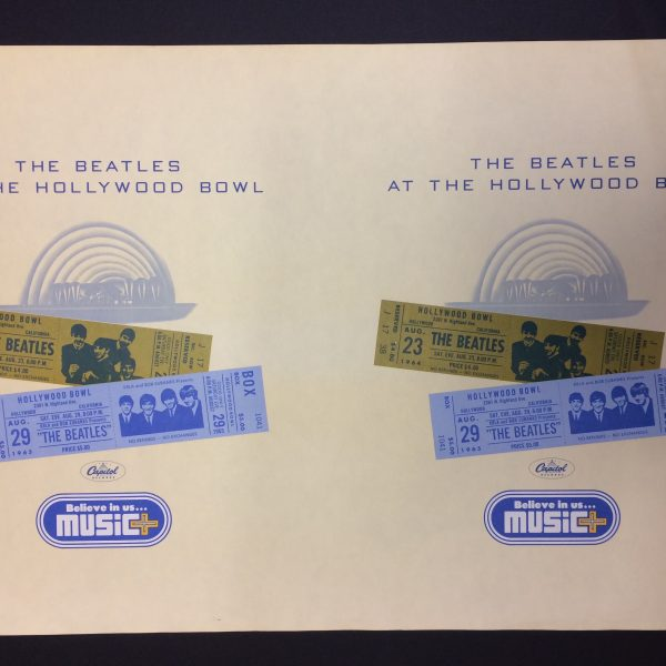 Beatles 2 Uncut Posters for Beatles at the Hollywood Bowl album