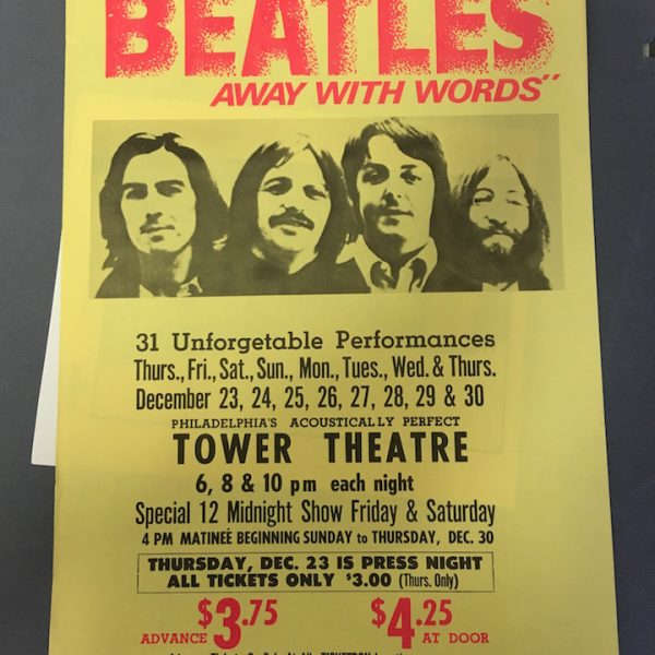 BEATLES AWAY WITH WORDS POSTER3