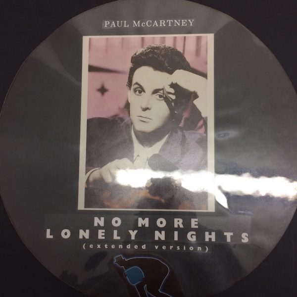 Beatles Paul McCartney No More Lonely Nights The original 12″ Picture Disc Mock up Artwork