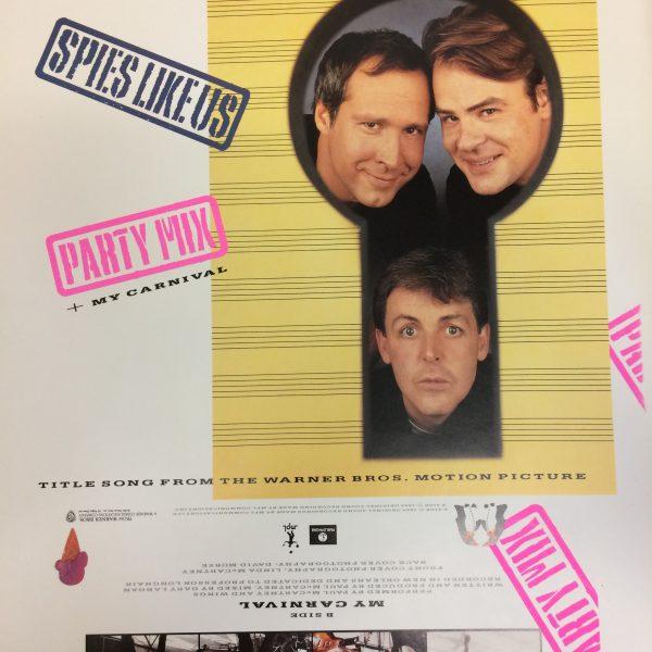 Beatles Paul McCartney Spies LIke Us 12″ Single Proof Artwork