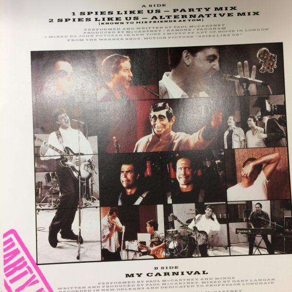 Beatles Paul McCartney Spies LIke Us an original 12″ Single cover proof artwork