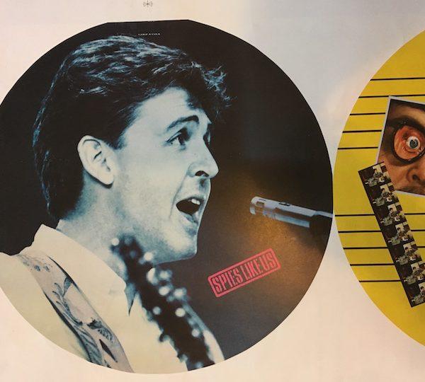 Beatles Paul McCartney Spies LIke Us 12″ Picture Disc Proof Single Artwork
