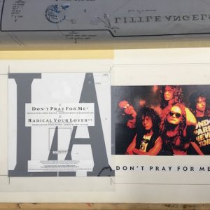 Little Angels Don't Pray For Me The Master Single artwork on 7 inch vinyl