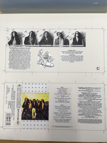 Little Angels Spitfire The Master album artwork on cassette