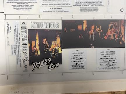 Little Angels Young Gods The Master album artwork on cassette