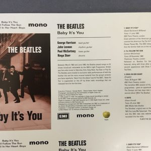 beatles baby its you cassette single proof artwork