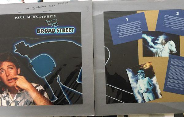 Beatles Paul McCartney The Original Album Cover Artwork for Give My Regards To Broad Street
