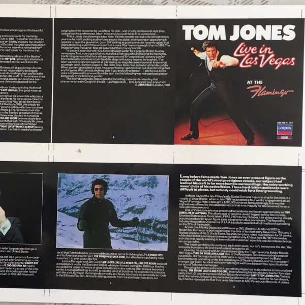 Tom Jones Live in Las Vegas Rare Original Cromalin Proof Album Cover Artwork