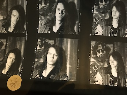 Little Angels rare Contact Sheet for Young Gods Outtake Album cover shoot J Dickinson Headshots AE 210191D