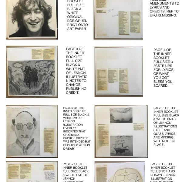 John Lennon The Original Album Cover Artwork for Walls and Bridges