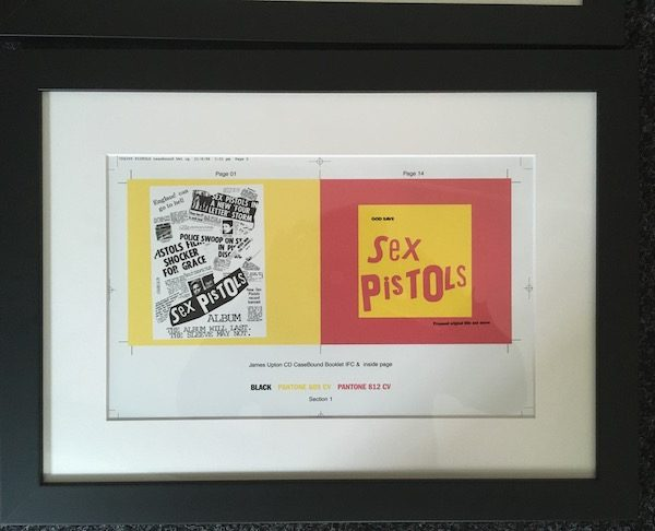 SEX PISTOLS Original Proof artwork for the re-release of the NMTB album booklet artwork