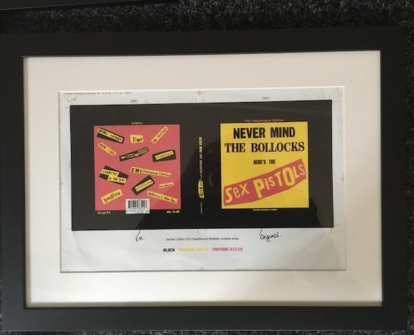 The Original Proof Artwork for the Sex Pistols Never Mind The Bollocks Album Cover