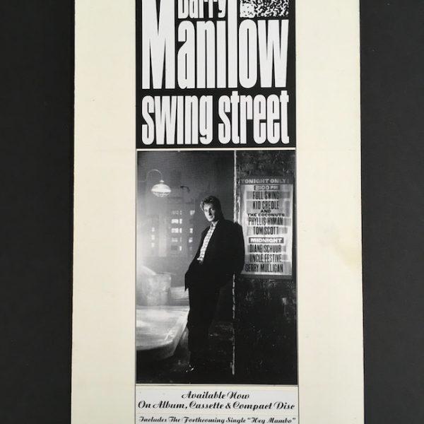 Barry Manilow Swing Street album Artwork for insight ad