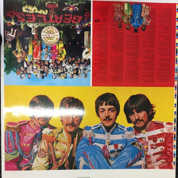 Original Album Cover artwork proofs for The Beatles Sgt Pepper's Lonely Hearts Club Band including cut outs