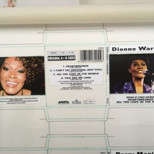 Dionne Warwick Original Cover Artwork For Heartbreaker Single