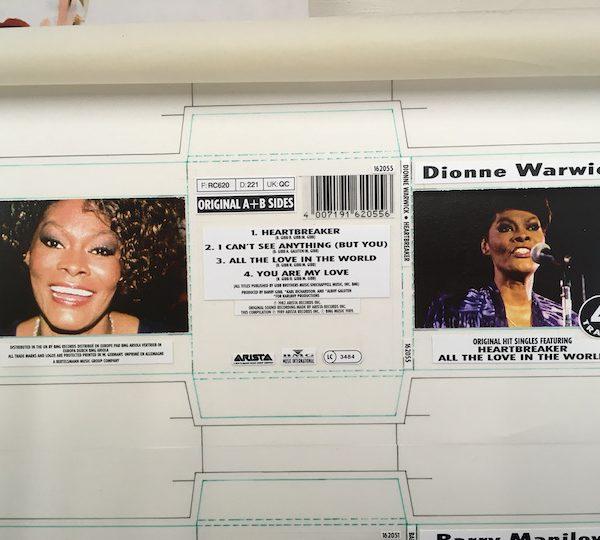 Dionne Warwick Original Cover Artwork For Heartbreaker Single