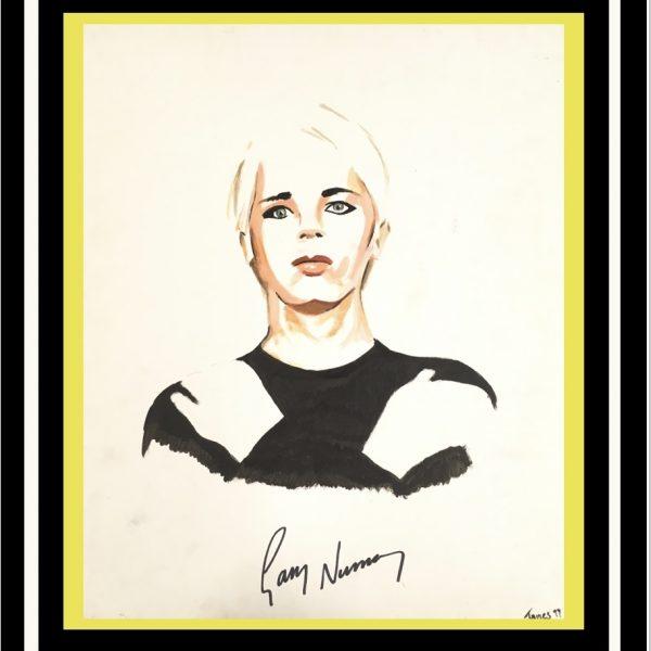 Gary Numan Original signed portrait from 1999