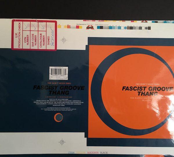 Heaven 17 Fascist Groove thing 7 inch original single cover artwork