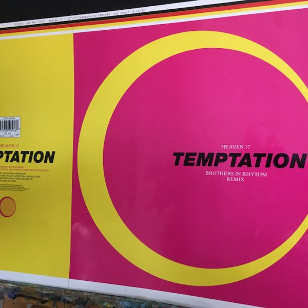 Heaven 17 tempation 12 inch single original cover artwork