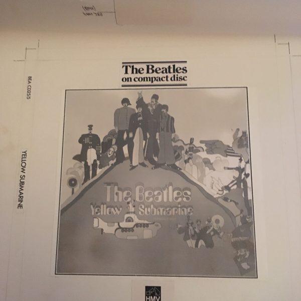 Beatles, The Original Artwork for Yellow Submarine Album Cover