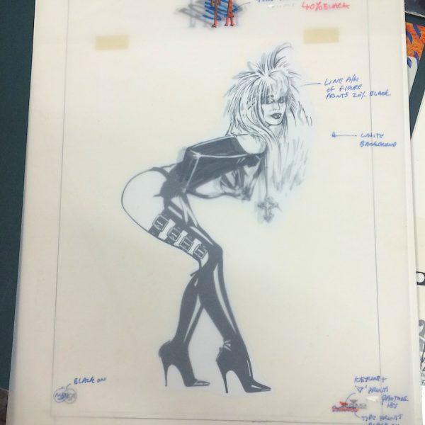 Lita Ford original album cover artwork for press folder notepaper