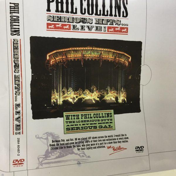 Phil Collins Original album cover artwork Serious Hits Live proof