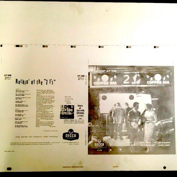 Rockin' at the 2I's original Decca aluminium printing plates