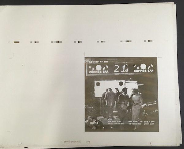 Rockin at the 2Is original Decca aluminium printing plates cyan