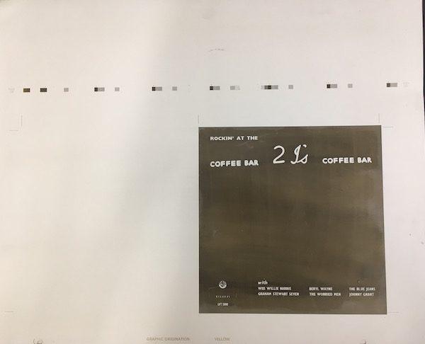 Rockin at the 2Is original Decca aluminium printing plates yellow