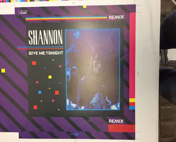 SHANNON GIVE ME TONIGHT 12 PROOF single cover artwork
