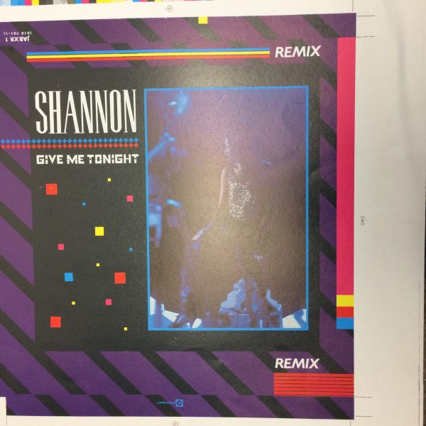 Shannon Give Me Tonight Rare Unreleased original album artwork proof