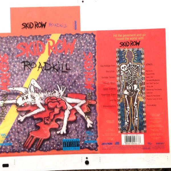 skid row road kill original album cover artwork proof