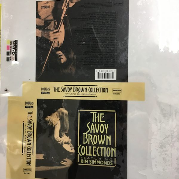 Savoy Brown the collection original album Cover artwork proof