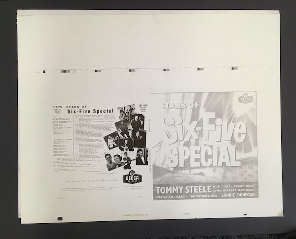 Stars of the Six Five Special Printing Plate