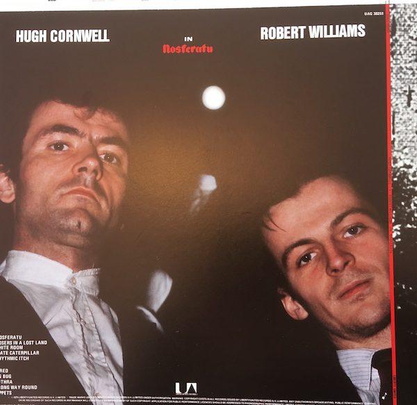 Stranglers Hugh Cornwell Robert Williams original album cover artwork proof for Nosferatu