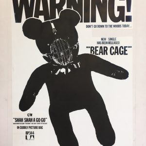 The Stranglers Bear Cage Original Artwork for Single Ad
