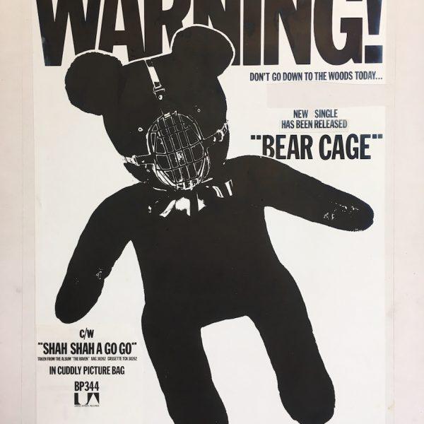 The Stranglers Bear Cage Original Artwork for Single Ad