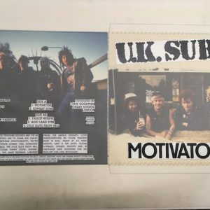 UK Subs Motivator E.P. Original Album Cover Artwork