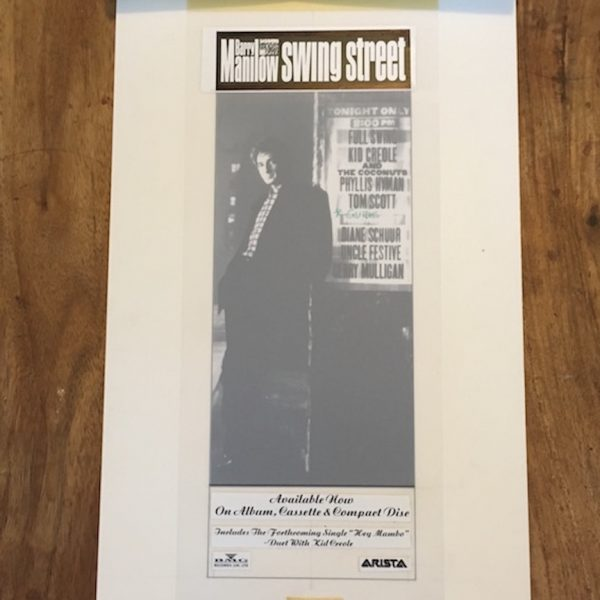 Barry Manilow original artwork for swing street album blues and soul ad