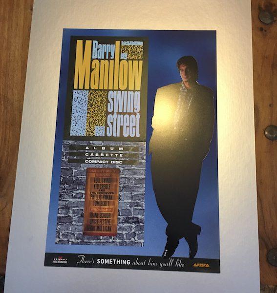 Barry Manilow Original final presentation artwork for album poster swing street