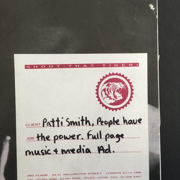 patti smith People Have the Power album artwork advert m&M
