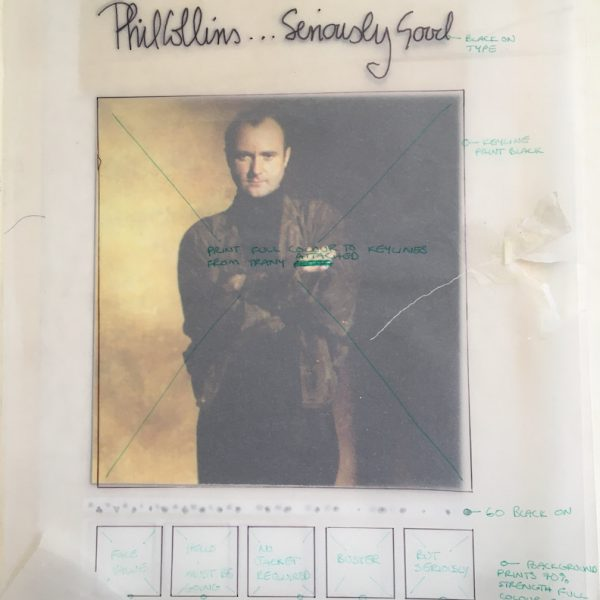 phil collins original album artwork for the Seriously Poster