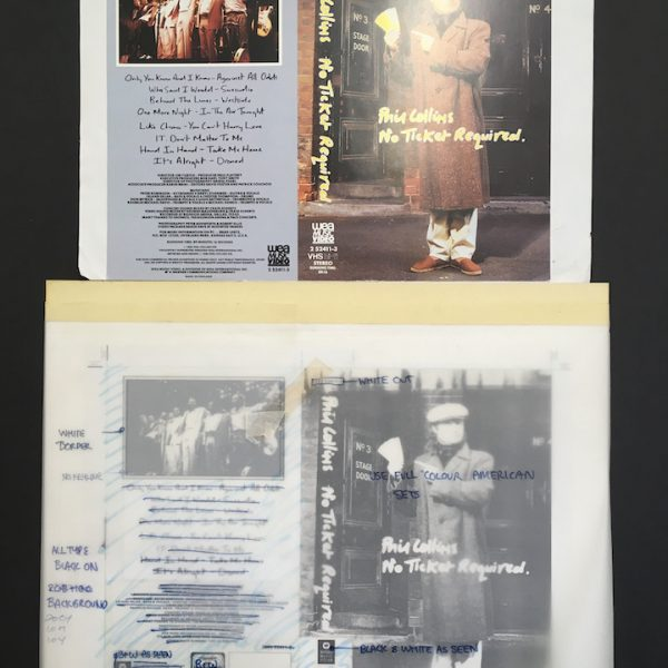 phil collins original album cover artwork for No Ticket required VHS
