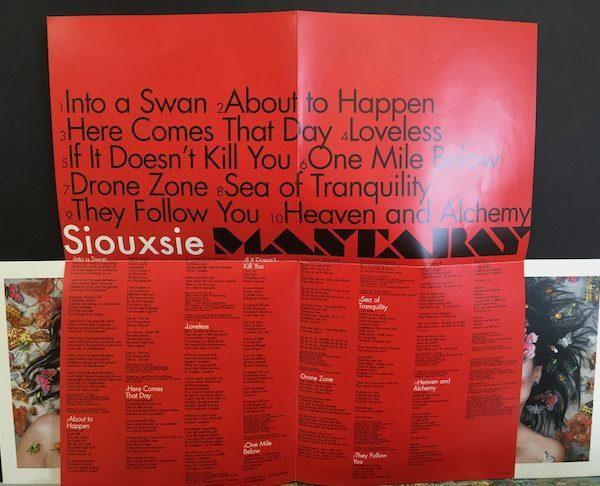 siouxsie Sioux Mantaray CD Promo
