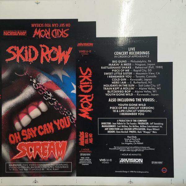 skid row OH Say You Can Scream Original Album Cover Art For VHS